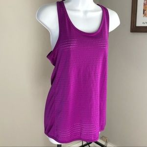 TEK GEAR | Perforated Workout Tank Magenta